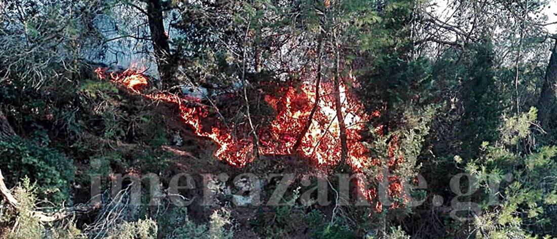 Ολονύχτια μάχη με τις φλόγες στη Ζάκυνθο