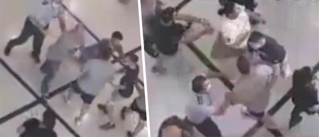 Άγριος καβγάς και ξύλο στα δικαστήρια Βέροιας (βίντεο)