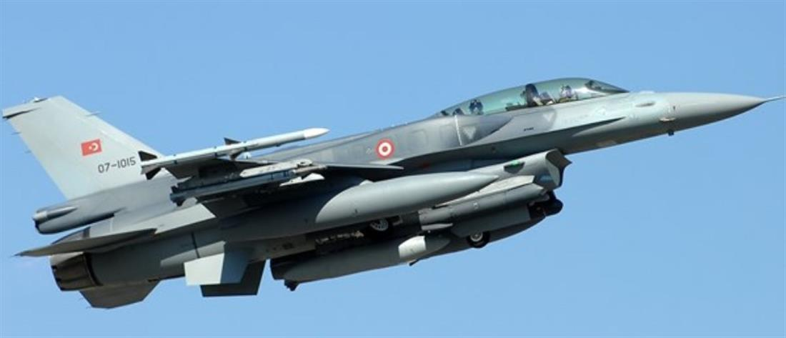 Τουρκικό μαχητικό πάνω από το Αγαθονήσι
