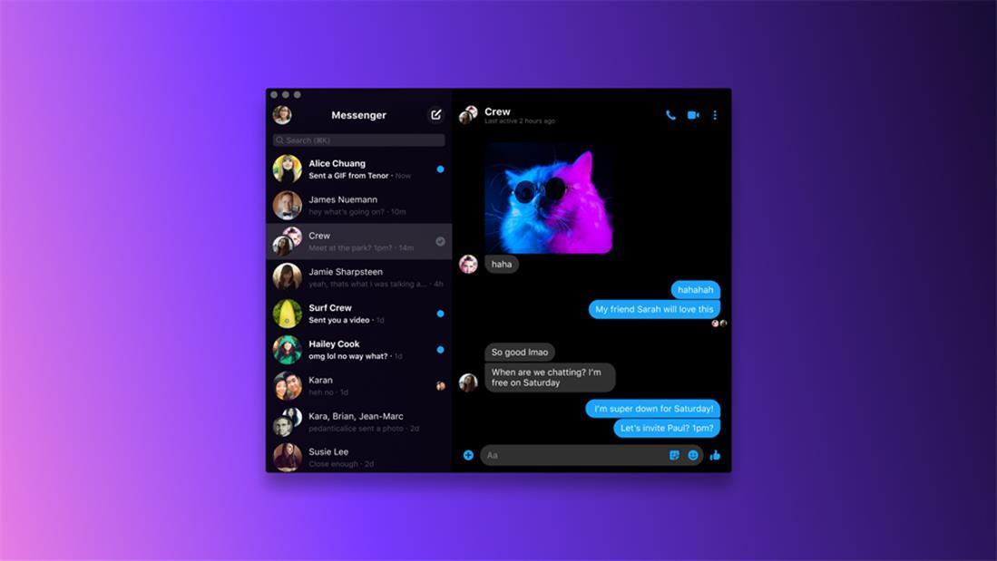 Messenger - νέα εφαρμογή - windows - MacOS