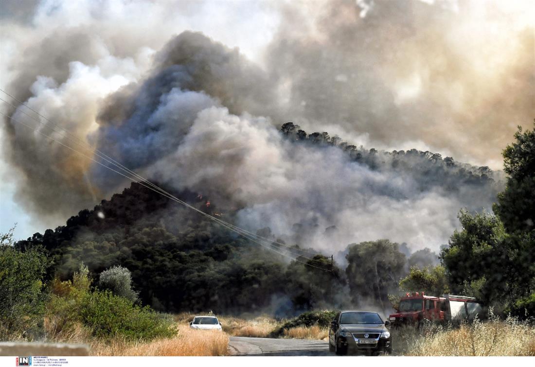 Φωτιά - πυρκαγιά - Κορινθία - Άνω Αλμυρή