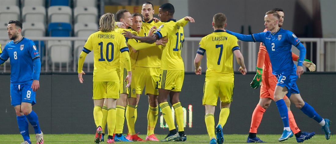 Προκριματικά Μουντιάλ: Μόνη πρώτη η Σουηδία στον 2ο Όμιλο