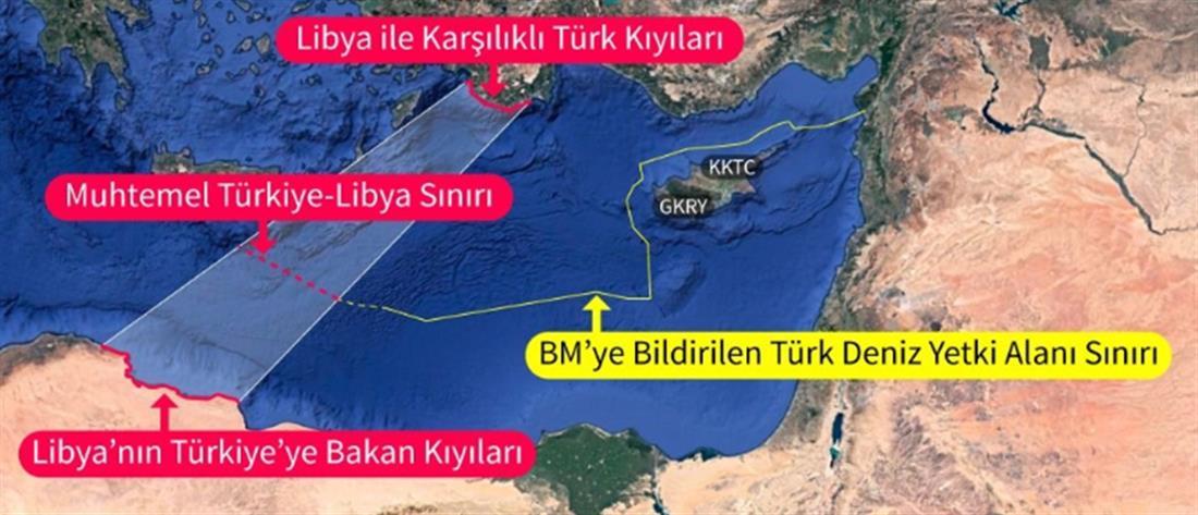 Ερντογάν - Λιβύη - θαλάσσια σύνορα - Μεσόγειος