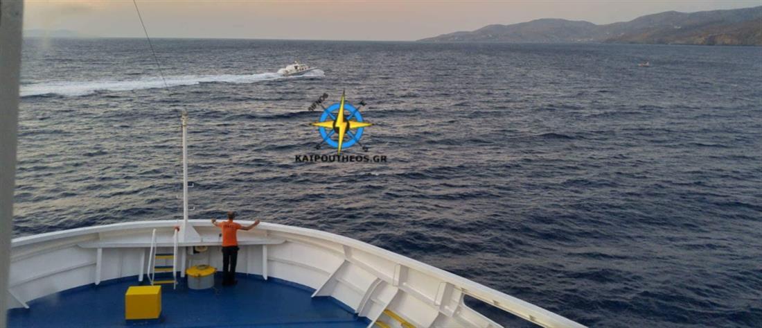 Επιχείρηση διάσωσης ακυβέρνητου σκάφους ανοικτά της Τζιας (εικόνες)
