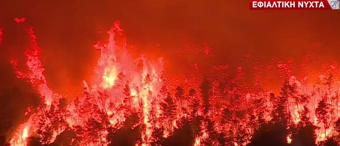Φωτιά στην Βαρυμπόμπη: Κρυονέρι, Δροσοπηγή, Ιπποκράτειος Πολιτεία σε πύρινο κλοιό (εικόνες)