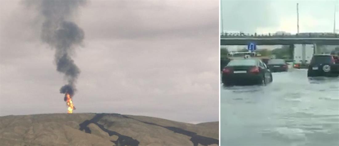 Δεν έφταναν οι πλημμύρες από τη σφοδρή νεροποντή, εξερράγη και το ηφαίστειο! (βίντεο)