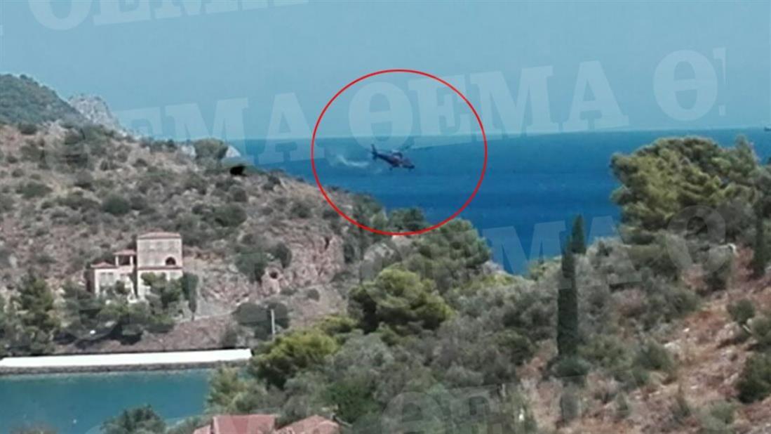 Πόρος - ελικόπτερο - πτώση