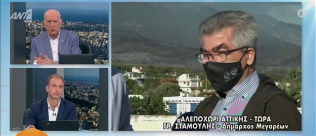 Φωτιά στα Γεράνεια Όρη - Σταμούλης στον ΑΝΤ1:  δύσκολο να γίνουν αντιπυρικές ζώνες