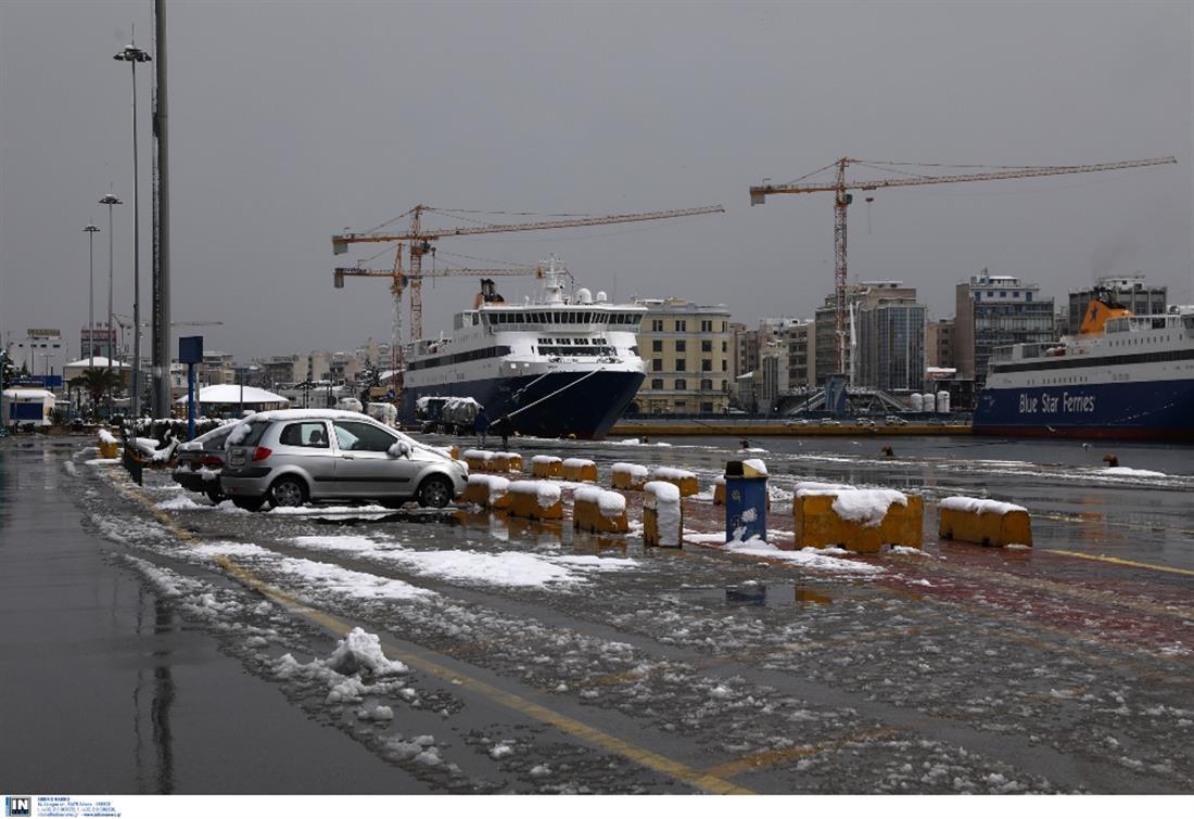 Πλοιο - καράβι - χιόνι - κάβος - καταπέλτης