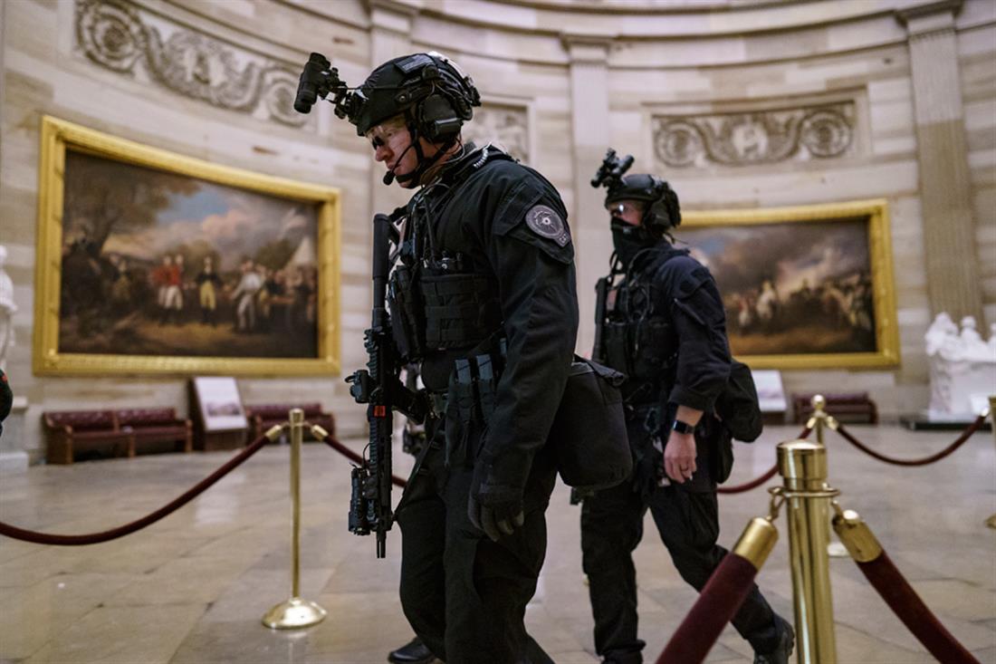 Αμερική - Καπιτώλιο - φρουρά - εισβολή