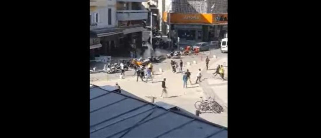 Ηράκλειο: Άγρια συμπλοκή μεταξύ αλλοδαπών (βίντεο)