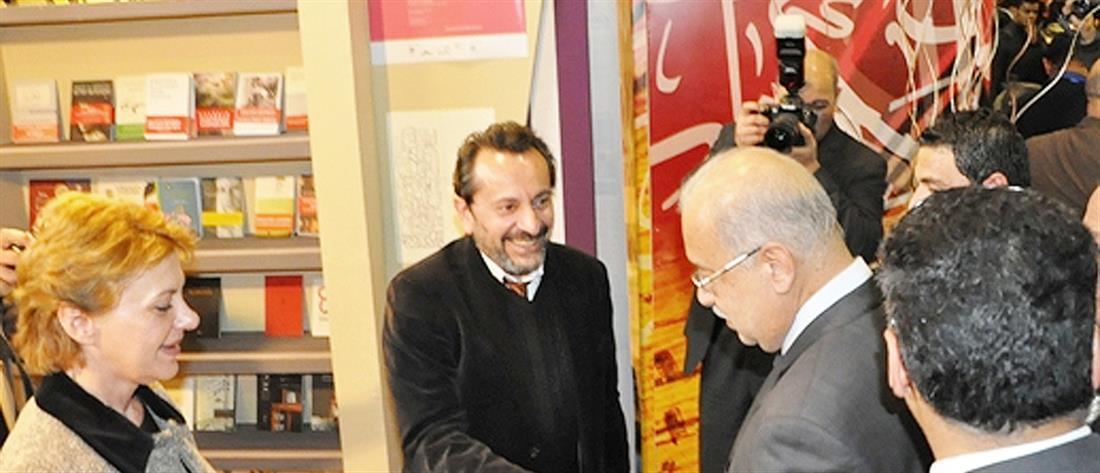 Ο Αιγύπτιος Πρωθυπουργός στο Ελληνικό Περίπτερο της Διεθνούς Έκθεσης Βιβλίου Καϊρου
