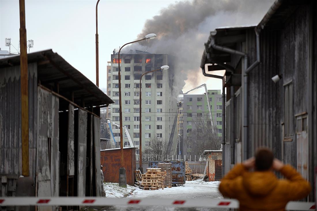 AP - Έκρηξη - πολυκατοικία - Σλοβακία