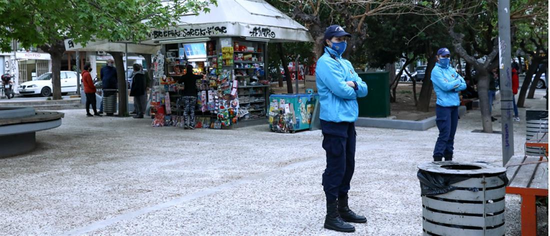 Πλατεία Βαρνάβα - έλεγχοι - lockdown - ΟΔΟΣ