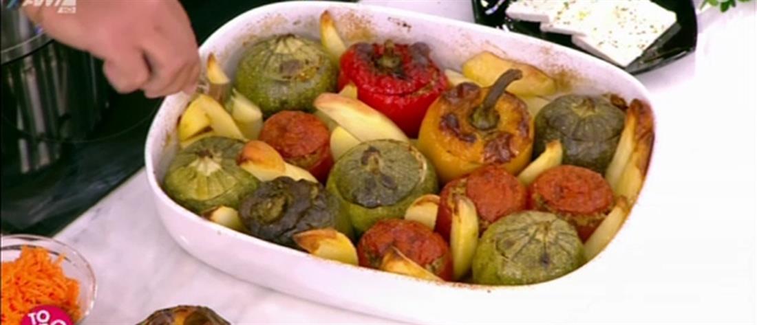 Συνταγή για γεμιστά από τον Πέτρο Συρίγο