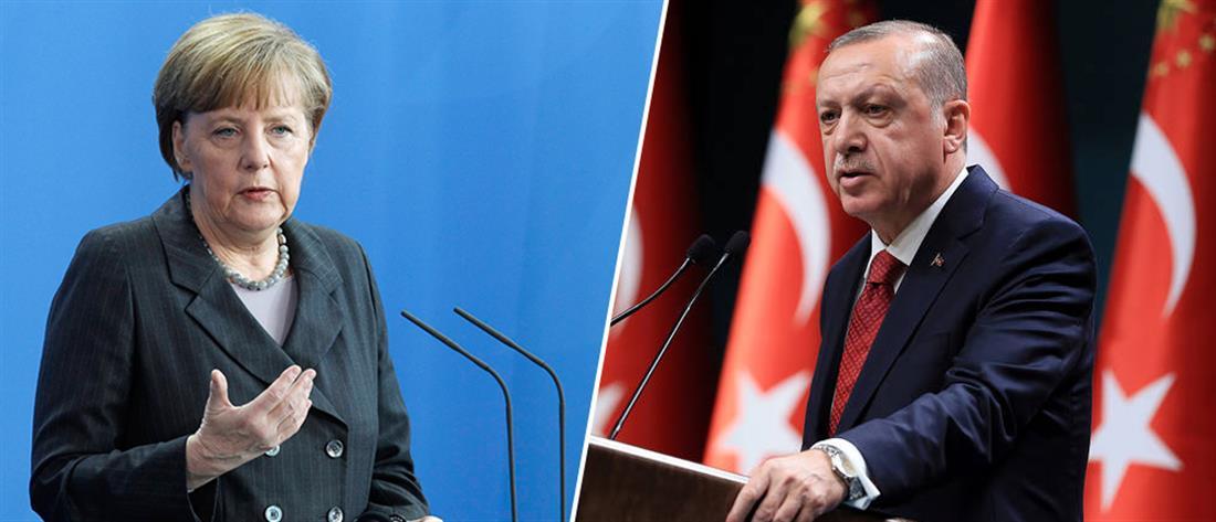 """Τηλεφωνική επικοινωνία Μέρκελ – Ερντογάν στη """"σκιά"""" των τουρκικών προκλήσεων στο Αιγαίο"""