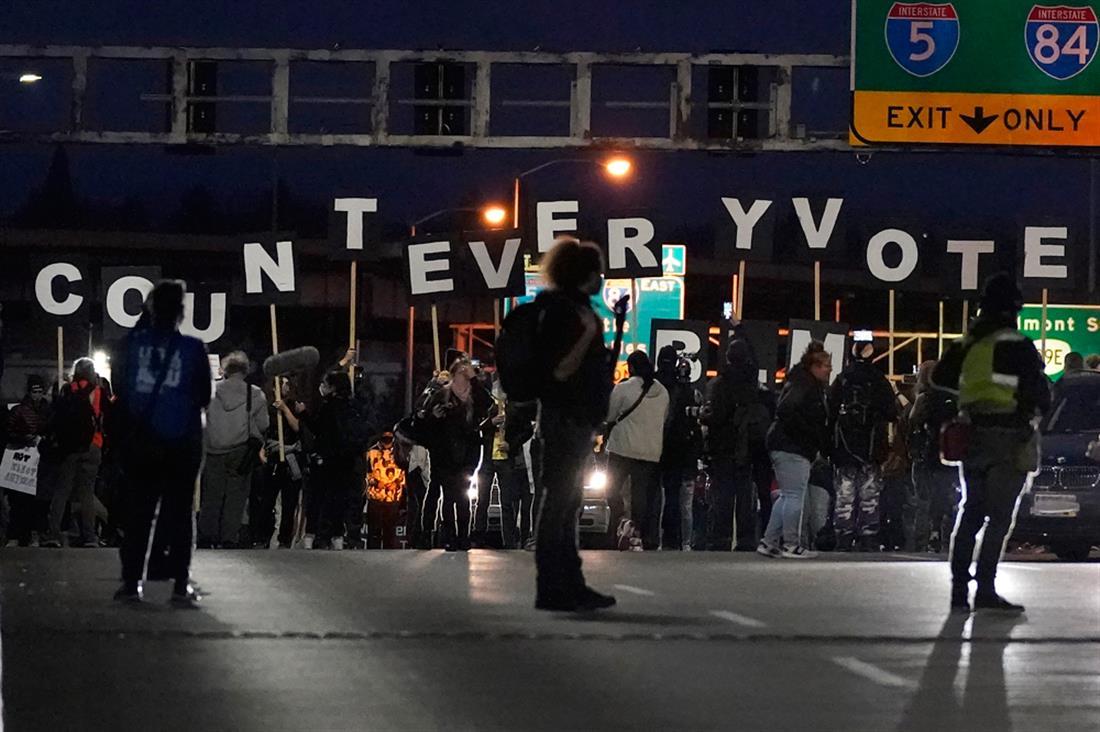 Αμερική - διαδηλώσεις - καταμέτρηση ψήφων