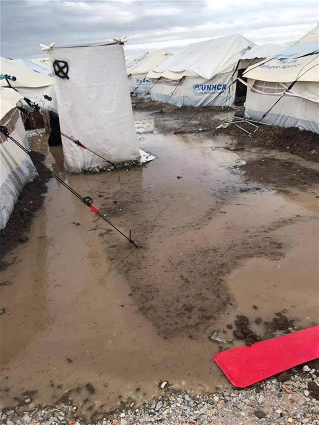 λάσπες - πλημμύρα - Καρά Τεπέ