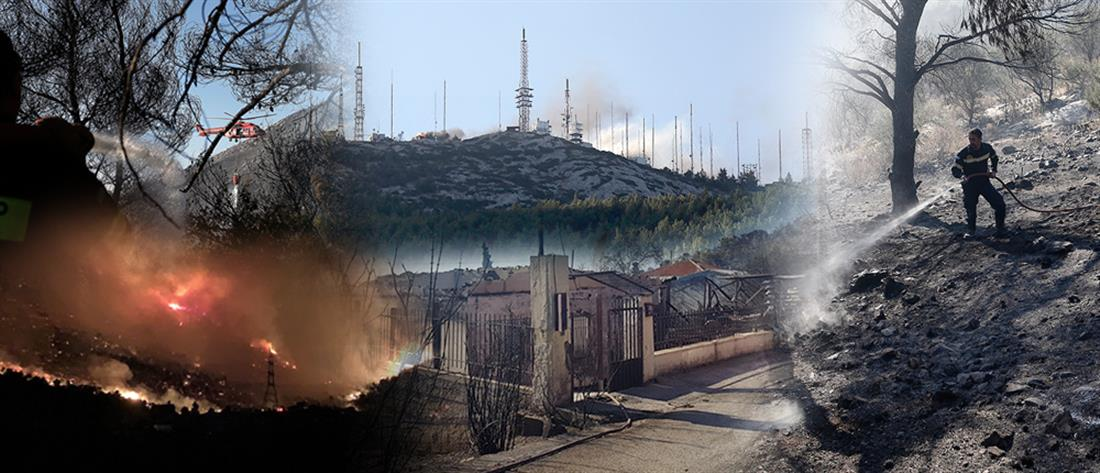 Συναγερμός για τη μεγάλη φωτιά στον Υμηττό (βίντεο)