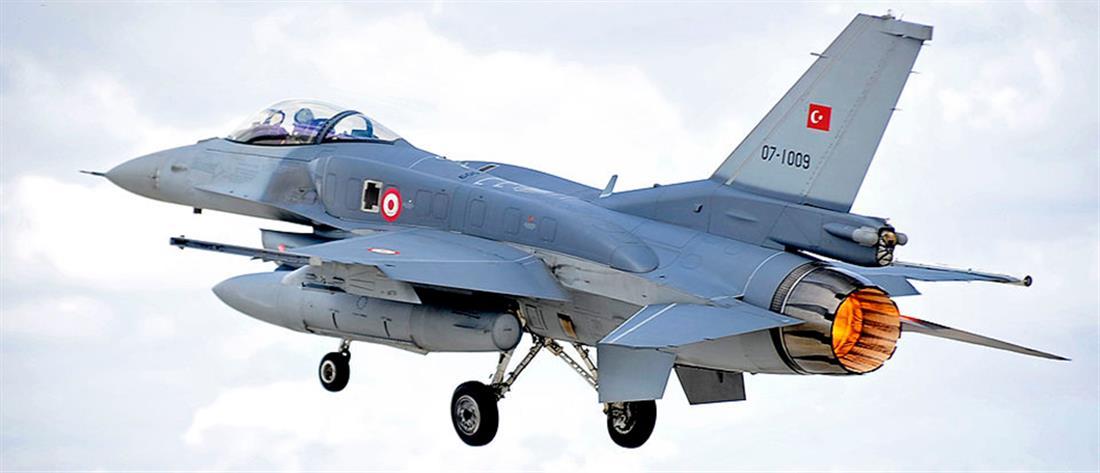 Υπέρπτηση τουρκικών F-16 πάνω από Λειψούς και Αρκιούς
