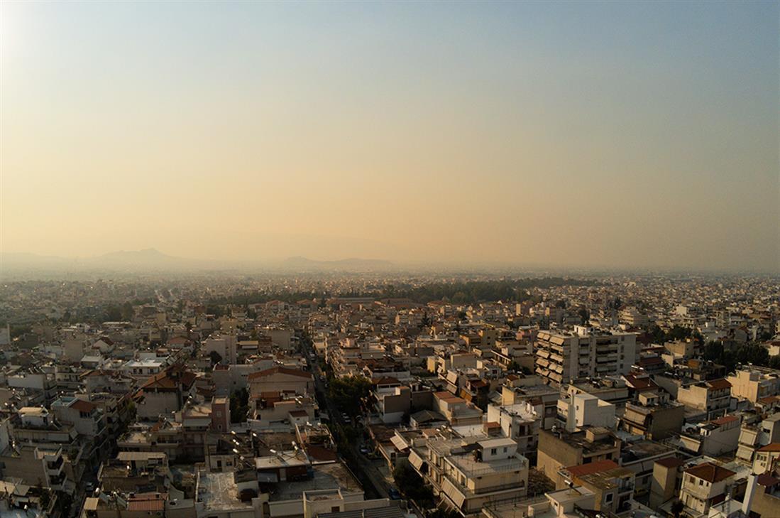 Αθήνα - νέφος - φωτιά
