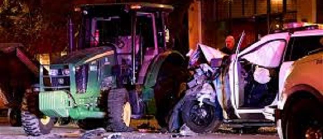 Καταδίωξη κλεμμένου τρακτέρ στους δρόμους του Ντένβερ (βίντεο)