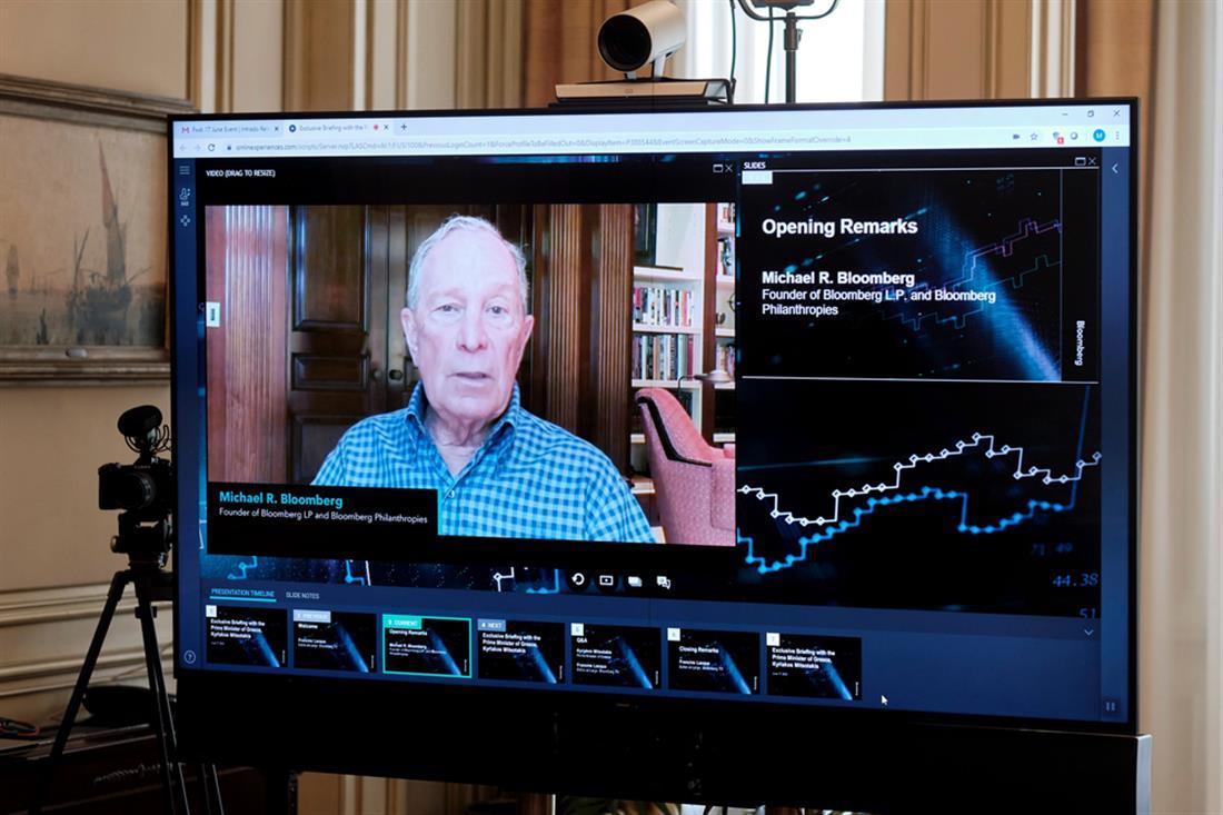 Κυριάκος Μητσοτάκης - συνέντευξη - διεθνής επιχειρηματική κοινότηταα - Bloomberg