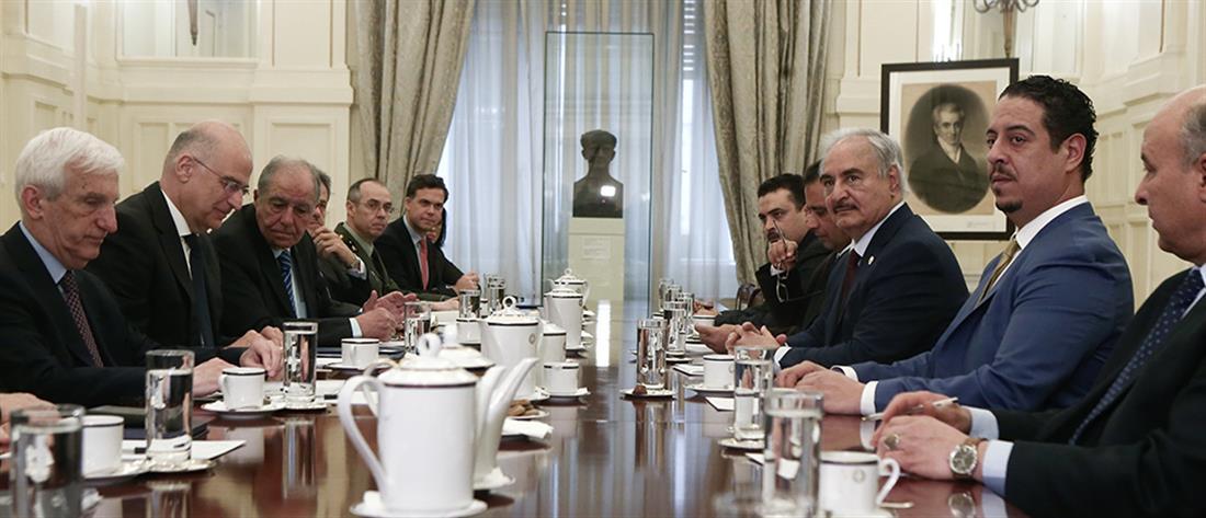 Δένδιας: ο Χάφταρ συμφώνησε με τα αιτήματα της Ελλάδας