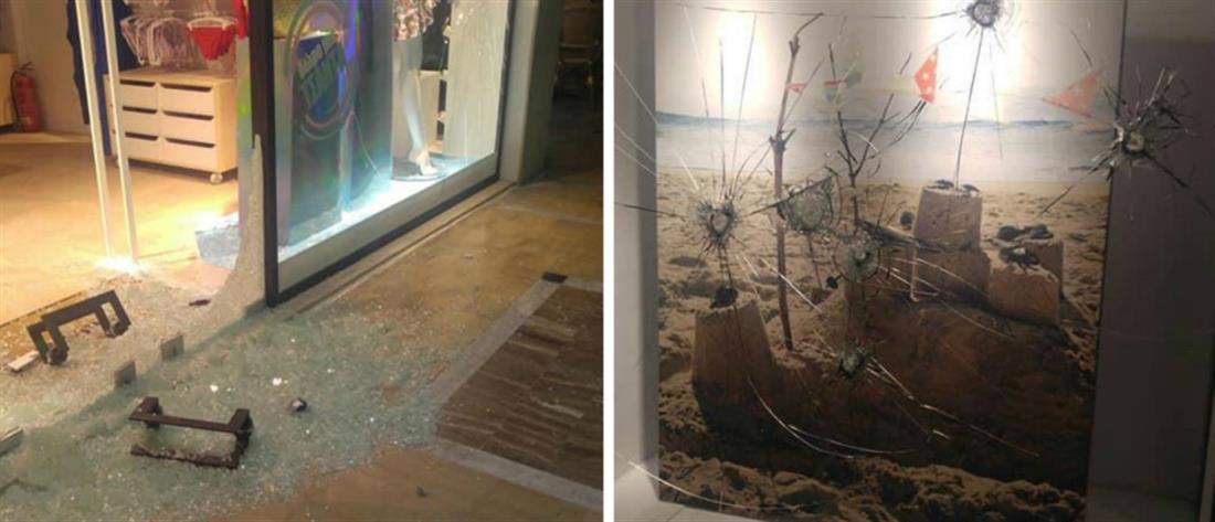 Καταδρομικές επιθέσεις σε καταστήματα στην Πάτρα (εικόνες)
