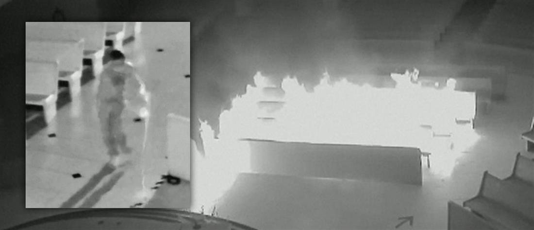 """""""Αθεόφοβος"""" πυρπόλησε εκκλησία (βίντεο)"""