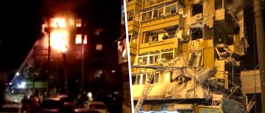 Τραυματίες από ισχυρή έκρηξη σε πολυκατοικία (βίντεο)