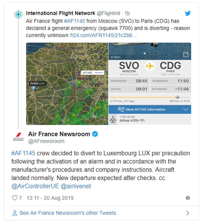 Air France - προσγείωση - αεροπλάνο