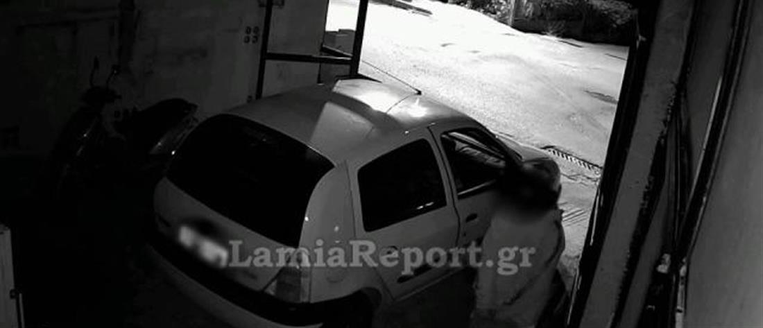"""Λαμία: Η κάμερα """"έπιασε"""" τους διαρρήκτες (βίντεο)"""