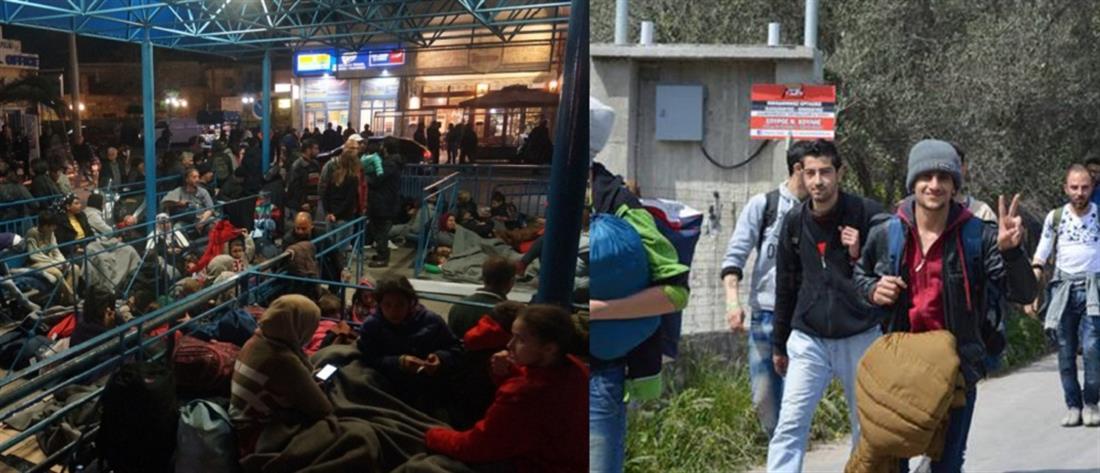 Αποκλεισμένο από μετανάστες το λιμάνι της Χίου