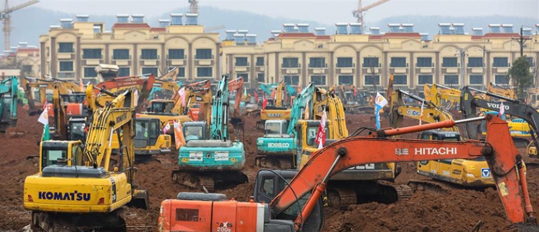 Κοροναϊός: χτίζουν, μέσα σε 6 ημέρες, νοσοκομείο στην Κίνα
