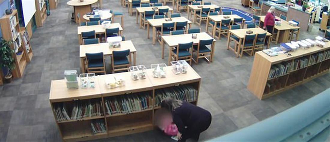 Βίντεο - σοκ: Νηπιαγωγός κλωτσά 5χρονη μαθήτρια της