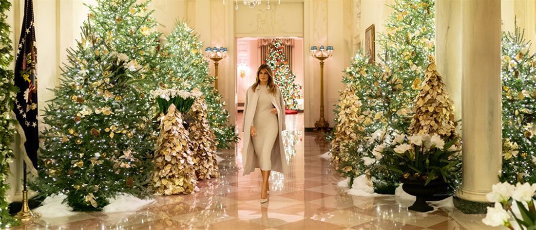 Η Μελάνια Τραμπ μας ξεναγεί στον χριστουγεννιάτικο Λευκό Οίκο (βίντεο)