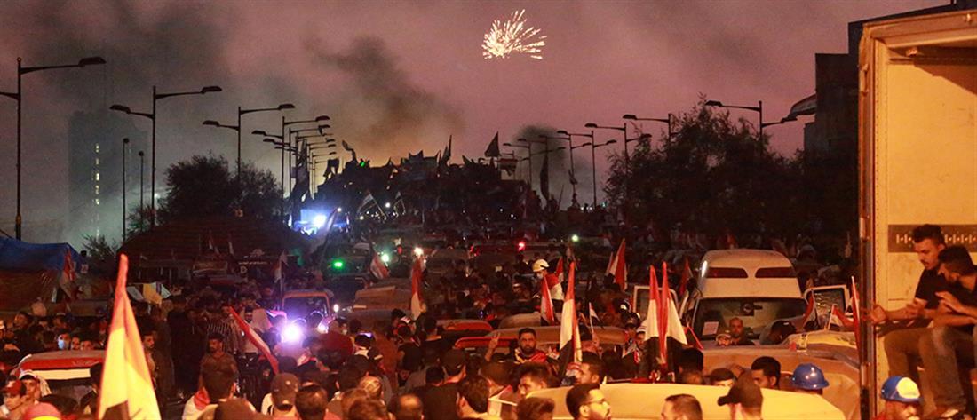 Ιράκ: πραγματικά πυρά της Αστυνομίας κατά των διαδηλωτών (εικόνες)