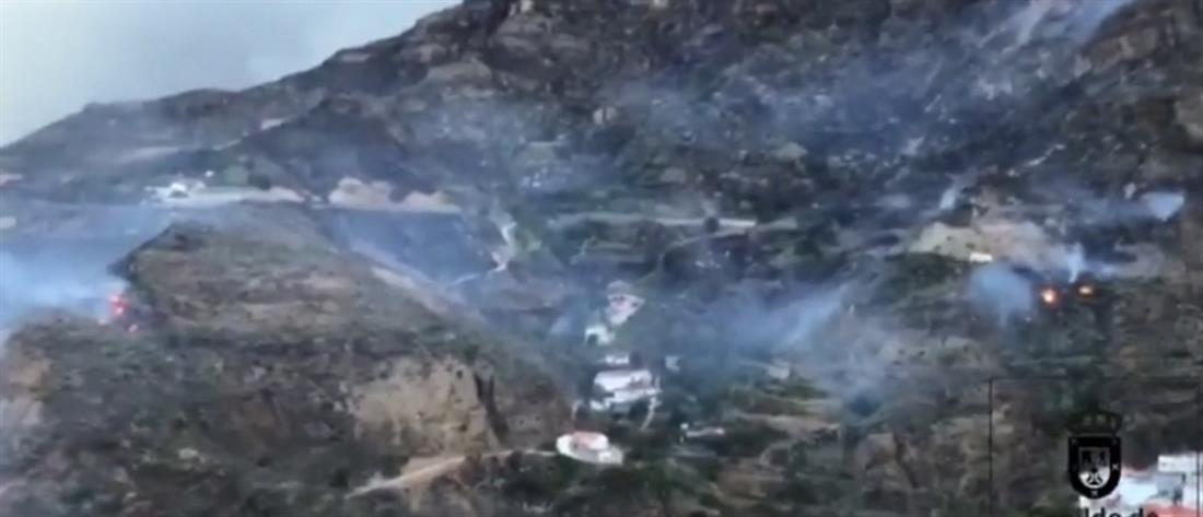 Φωτιά απειλεί σπίτια στις Κανάριες Νήσους (βίντεο)