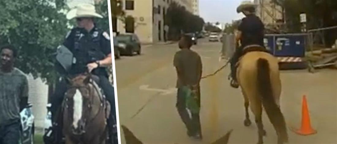 """Αστυνομικοί τον """"έσερναν"""" με άλογο - Κατέθεσε αγωγή-""""μαμούθ"""""""