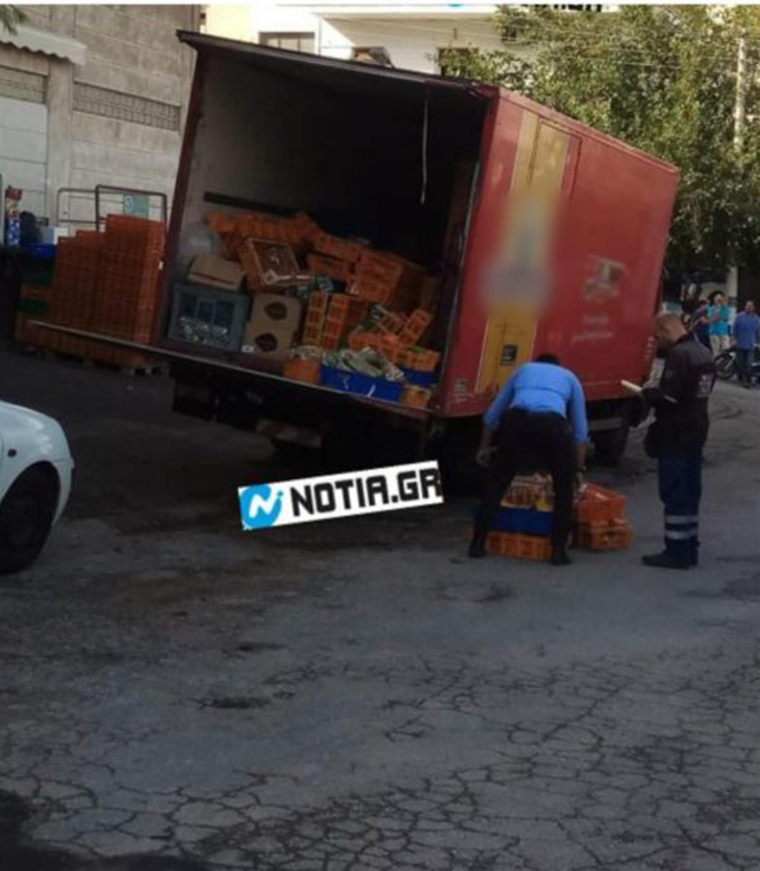 Aτύχημα - σούπερ μάρκετ - Ηλιούπολη