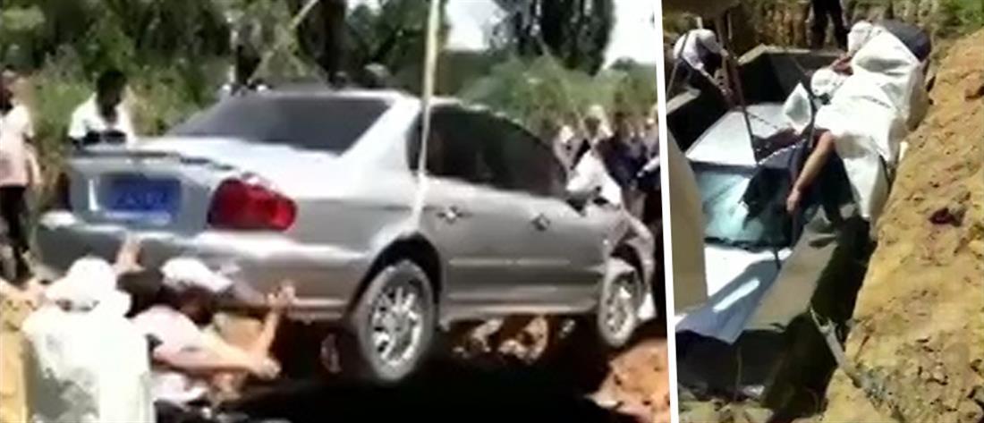 Πήρε το αυτοκίνητο του ...στον τάφο του! (βίντεο)