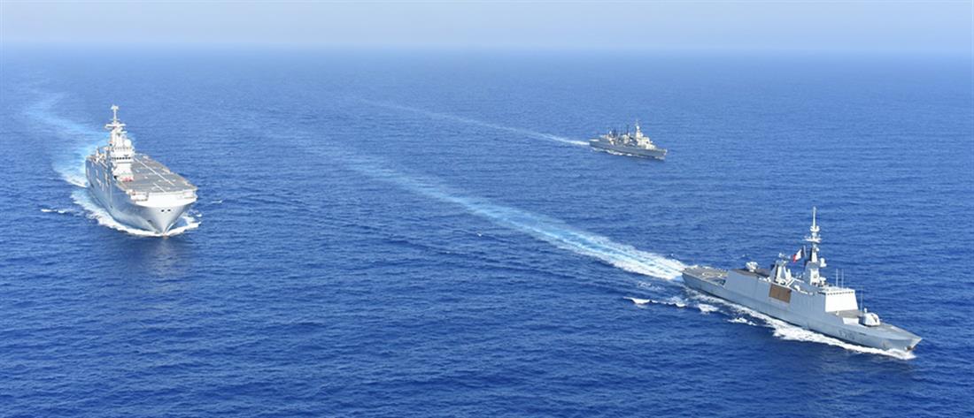 Μήνυμα στην Τουρκία η κοινή ναυτική άσκηση Ελλάδας-Γαλλίας (βίντεο)