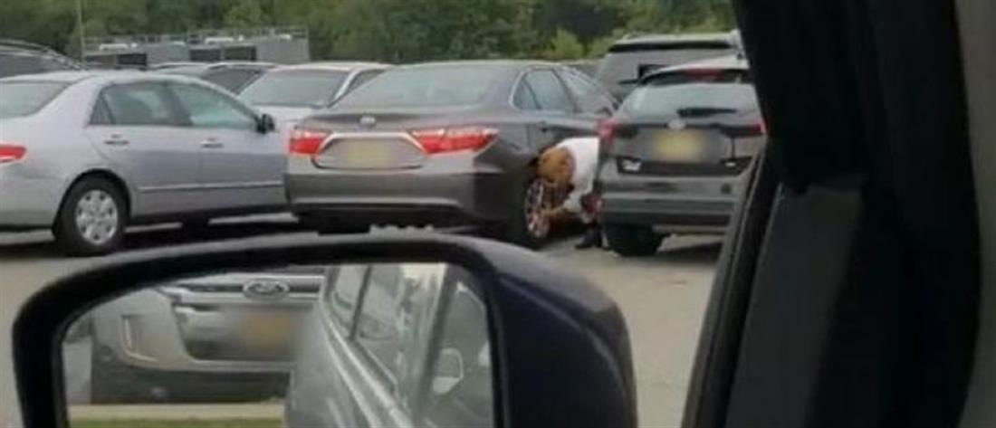 Viral η γιαγιά που ξεπαρκάρει ...επί 6' το αυτοκίνητο της! (βίντεο)
