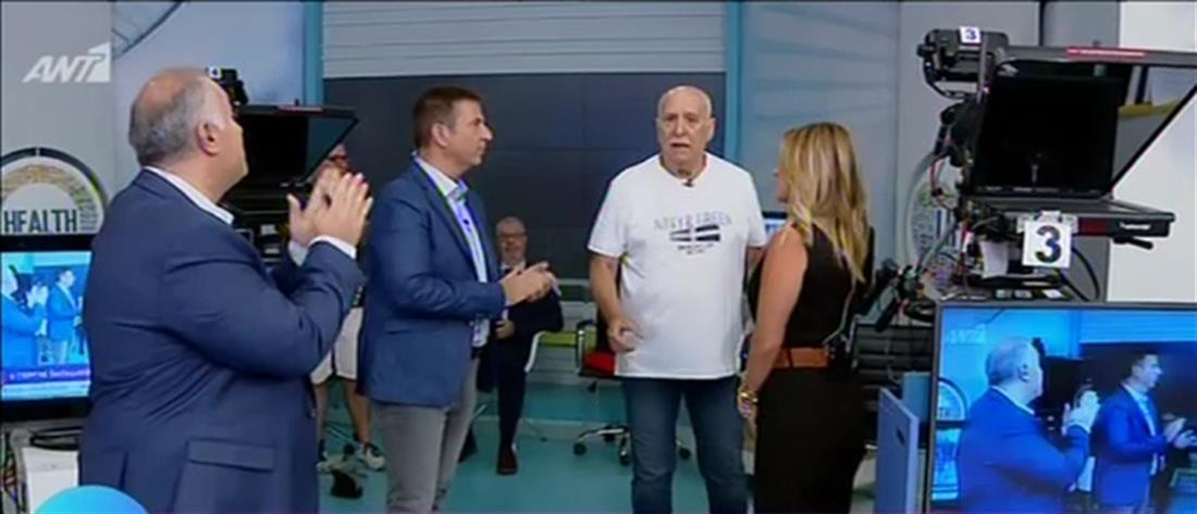 """Ο Γιώργος Παπαδάκης και η """"εισβολή"""" στην εκπομπή """"Καλοκαίρι Μαζί"""" (βίντεο)"""