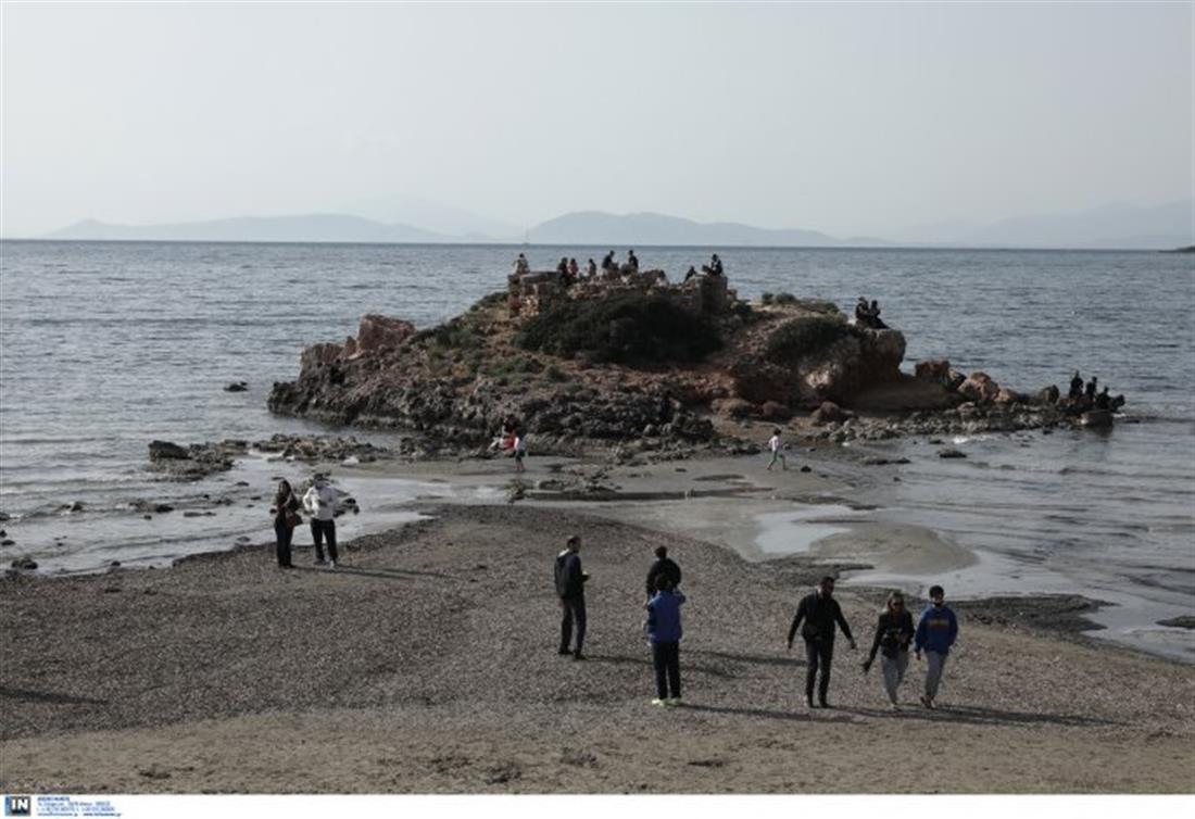 Καβούρι - στάθμη θάλασσας