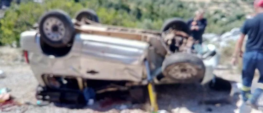 Νεκροί από πτώση αυτοκινήτου σε γκρεμό