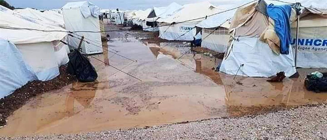 Πλημμύρισε ο καταυλισμός του Καρά Τεπέ (εικόνες)