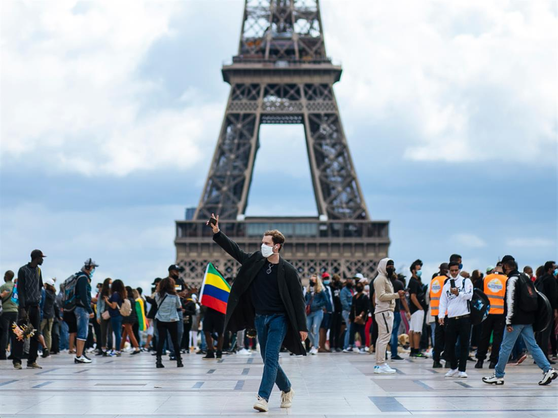 AP - Γαλλία - Παρίσι - διαδήλωση - κορονοϊός