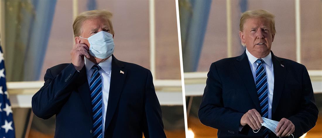 Ντόναλντ Τραμπ - μάσκα - κορονοϊός